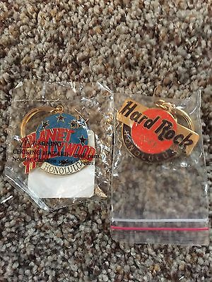 Hard Rock Cafe And Planet Hollywood Honolulu Key Chains