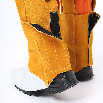 AP-9100 15cm Leather Welding Leggings and Spats / Shoe Cover Protector
