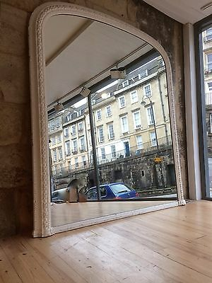 Very Large Victorian Over Mantle Mirror, Original Glass, Good Condition