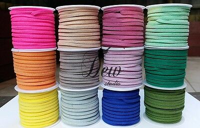 2.5 Meters 3mm Suede Faux Leather Cord String Jewellery making Bracelet DIY