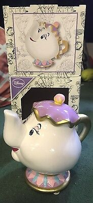 Mrs Potts, Disney, teapot money box, Primark - rare. Beauty and The Beast