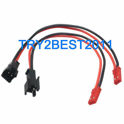 10Pairs 15cm Long JST SM 2Pins Plug Male to Female Wire Connector O5S1 B3