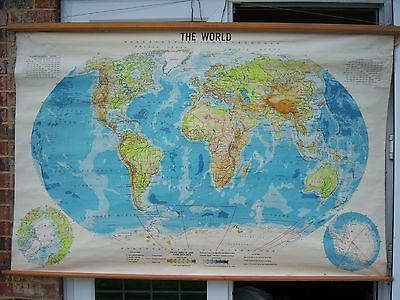 Map of the World Philips' Series of Large School-room Maps 1967