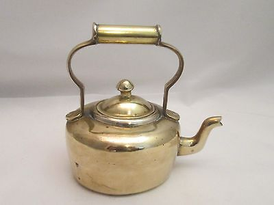 A Fine Vintage Miniature Brass Kettle - Kitchenalia