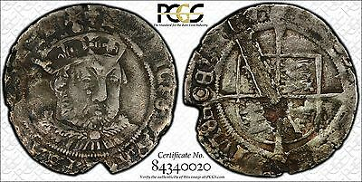 PCGS Henry VIII (1544-47) Groat 3rd Coinage London mm. Lis VF Details 4D UK