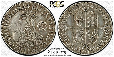 PCGS VF25 Queen Elizabeth I 1562 Sixpence 6D UK S-2595
