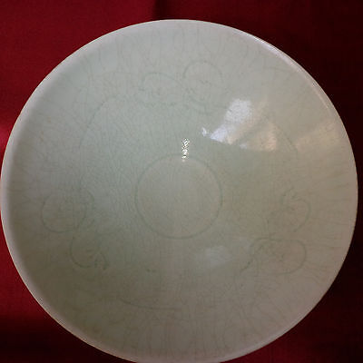 Antique Chinese Qingbai Carved Boys Large Bowl