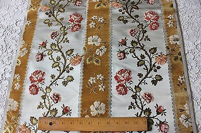 Stunning & Rare Antique French 18thC Lyon Silk & Chenille Brocade Sample Fabric