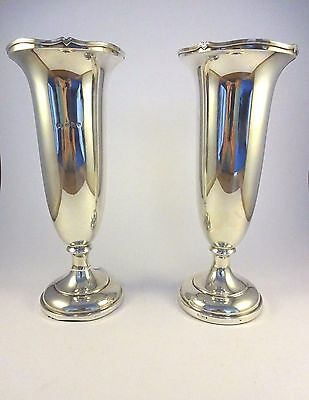 Pair of Silver Vases 1912-13 Birmingham Elkington & Co Hallmarks