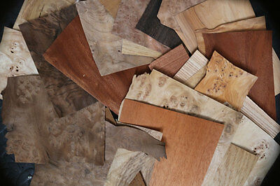 Mixed Mini Pack of Veneer for marquetry and small projects jewellery  (1084)