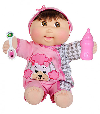 """Cabbage Patch Kids 14"""" Baby So Real Brunette"""