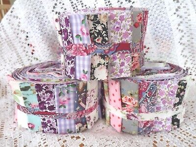 PATCHWORK QUILTING KIT Moda Jelly Roll Jam Quilt Fabric & Wadding
