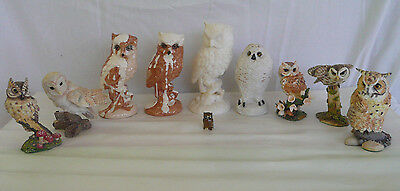 10 OWLS Great Hornet Owl Magnificent World of Owls & Mixed Figurine Collection