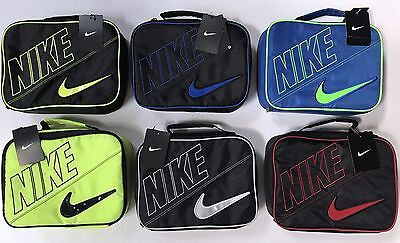 Nike School Lunch Box Insulated Tote Bag Boy's Youth Kids Black Blue Red Green