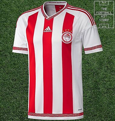 Olympiakos Home Shirt - Official Adidas Greek Football Shirt - Mens - All Sizes
