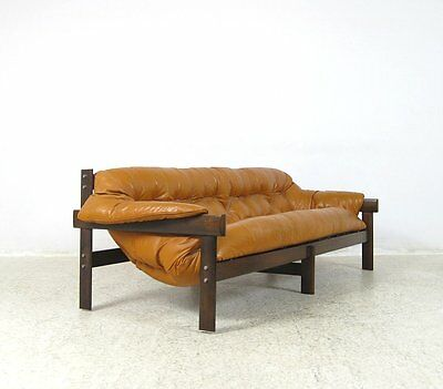 Percival Lafer MP041 Couch Sofa Palisander Rosewood Couch Leather 60s 70s