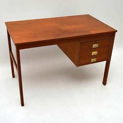 DANISH TEAK RETRO DESK VINTAGE 1960's
