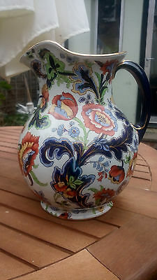 Keeling & Co England Losol Ware Antique Large Handpainted Roses Porcelain Vase