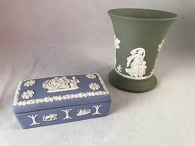 Two Estate Finds Wedgwood England Box And Vase