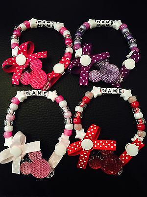 Baby Girls Personalised Dummy Clip / Soother Saver