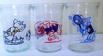 Welch's trio of Tom Jerry glasses from 1991 Turner Entertainment in mint conditi