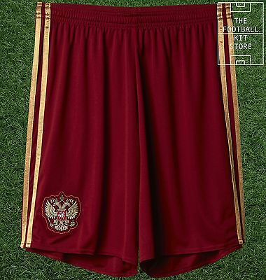 Russia Home Shorts - Official Adidas International Team Shorts - Mens All Sizes