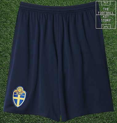 Sweden Away Shorts - Official Adidas Football Shorts - Mens All Sizes