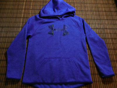 Girl's Under Armour Hoodie Sweat Shirt Hoody Youth Size Large Purple