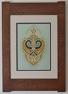 Mission Style Bungalow Quartersawn Oak Arts & Crafts Framed Print- Ornament