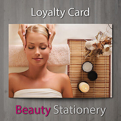 Loyalty Card Beauty Salon Hairdressing Spa Make Up Therapist Nail Massage A7