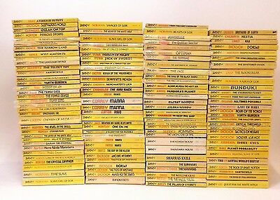 HUGE Lot 125 Daw Science Fiction Paperback Books Yellow Spines Collection Flea M