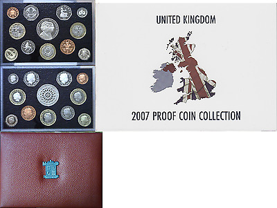 2007 Great Britain 12 Coin Proof Set OGP W/COA