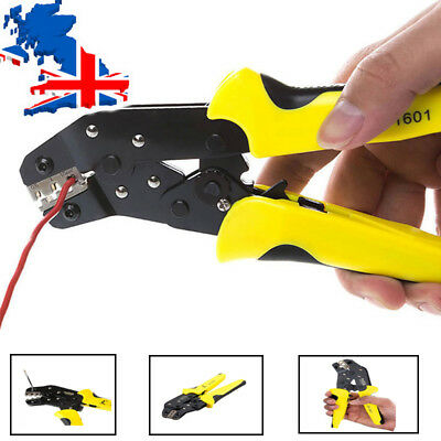 """9""""  Electrical Ratchet Plug Terminal Crimping Plier Cable Wire Crimper Tool"""