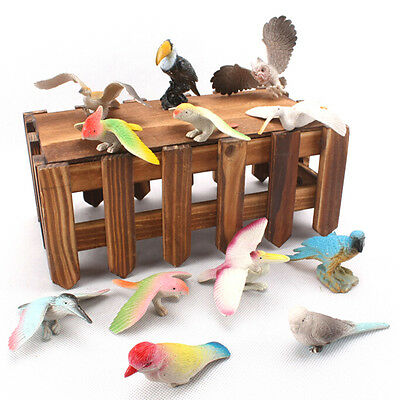 12 X/Set Birds Figures Toys Set Children Kid Animal Model Toy Kit Hard Plastic Z