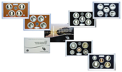 2014-S US Mint Issued Silver 14 Coin Proof Set OGP W/COA