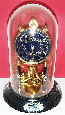 German Standard Glass Domed 400 day Clock with Zodiac Dial