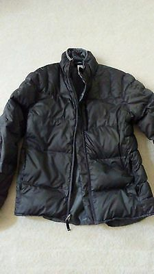 REI Youth Boys down Puffer Zip Up jacket- Charcoal Grey - Size XL (18)