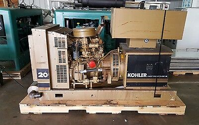 Kohler 20Kw Generator WITH Transfer Switch Natural Gas/ Propane 1059 Hours