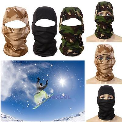 3D Balaclava Full Face Mask Tactical Camo Headgear for Hunting Skiing Cycling