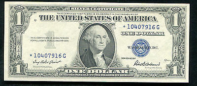 1935-F $1 One Dollar *star* Silver Certificate Gem Uncirculated