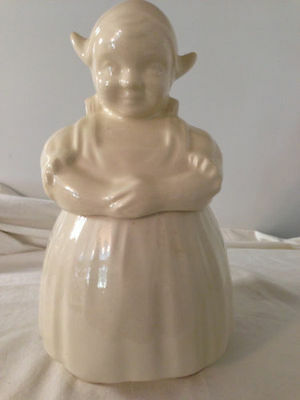 Vintage American Bisque Pottery Dutch Girl Cookie Jar A.B.Co. Mid Century