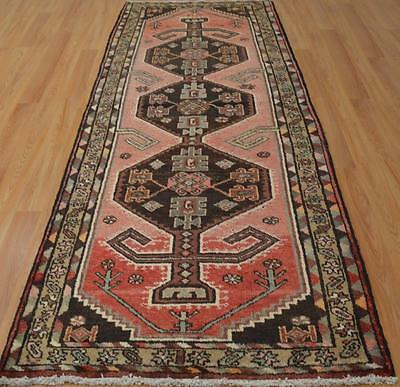 3'4x9'4 Nice Authentic Semi Antique Persian Tribal Hand Knotted Wool Runner Rug