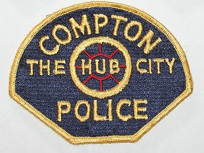 Defunct COMPTON POLICE Los Angeles County California Vintage Fully Embroidered