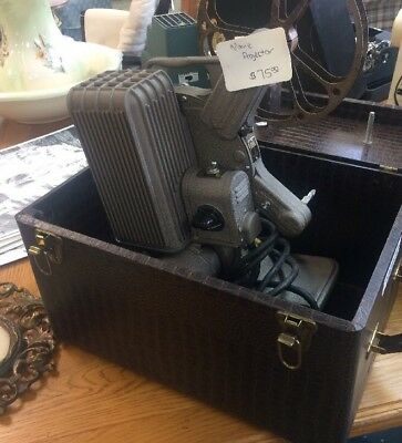 Vintage  Keystone Continental 16mm Movie Projector A-82 W/case +more