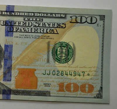 ONE STAR $100 2009 ~ US Hundred Dollar Bill (1) STAR *NOTE ~ UNCiRCULATED~ !