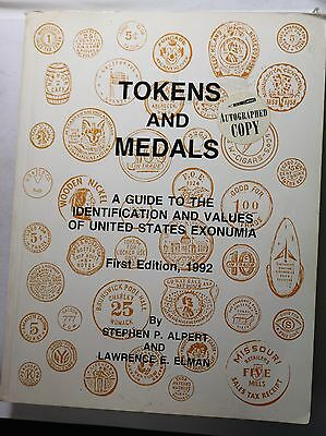1992 First Edition Tokens and Medals Guide Book Autographed Copy 259/1000