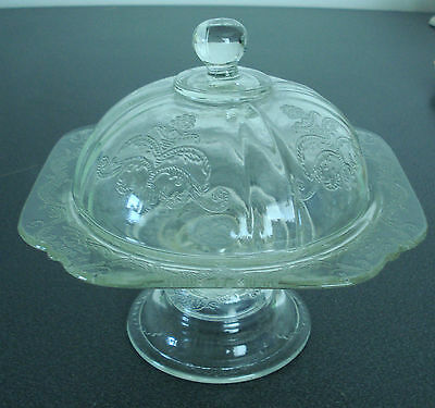 Clear Indiana Glass Footed Dish with Matching Dome Lid