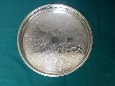 Small Round Silveplate Tray Made By Cavalier