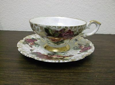 Rossetti hand painted Cup and Saucer set made in Japan