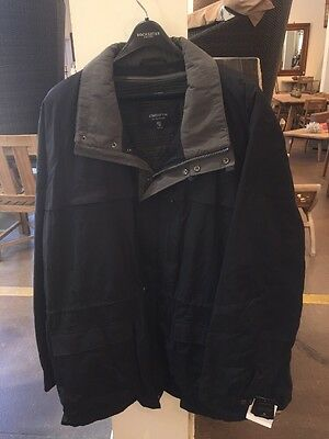 Claiborne Outerwear Big And Tall Black 5X Parka  Microfiber Jacket Men's